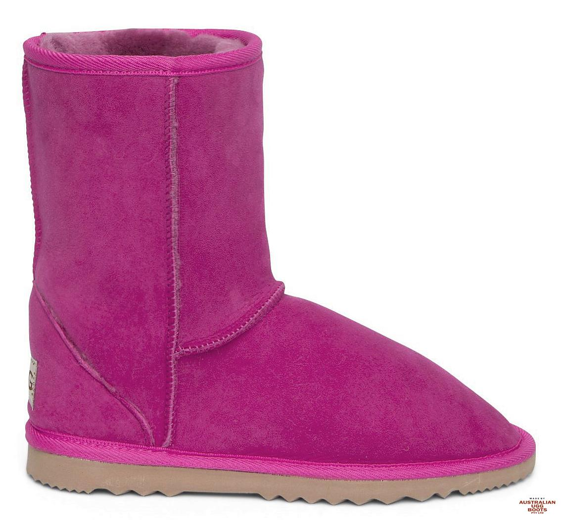 Carnival Short Ugg Boots. Image. Bright Rose. Loading zoom