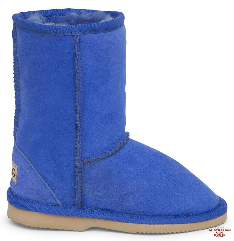 Kids Classic Ugg Boots. Image. Electric Blue. Loading zoom