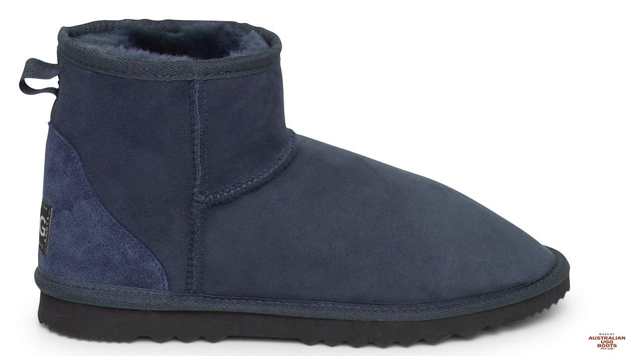 Men's Mini Ugg Boots. Image. Navy Blue. Loading zoom