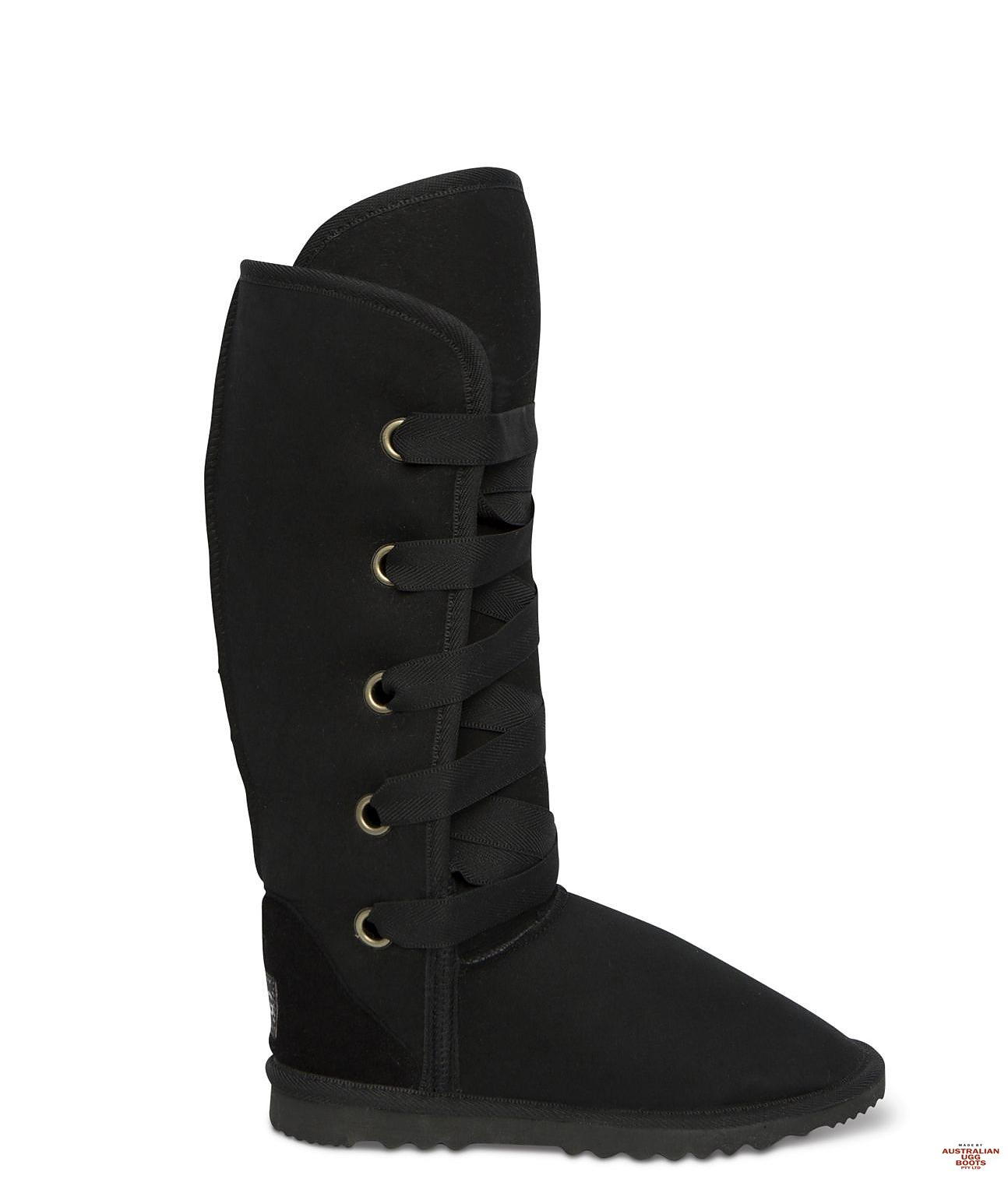 Tall Dance Ugg Boots. Image. Black. Loading zoom